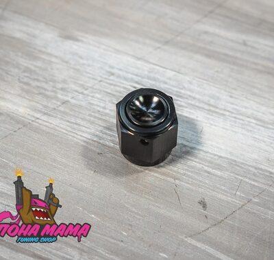 Фитинг заглушка AN6 (мама) , черный (GBAN820-6)