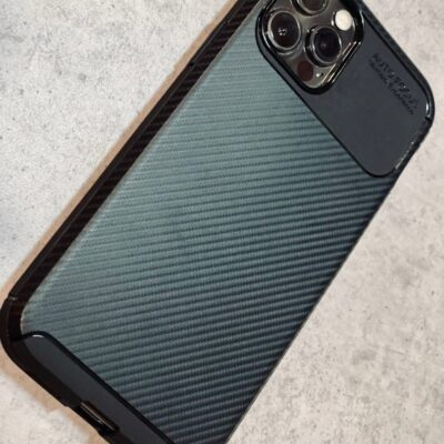 Силиконовый чехол под карбон на IPhone 12 Pro Max