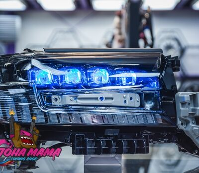 Фары в стиле дизайн Bugatti для Toyota Land Cruiser 200 2016+