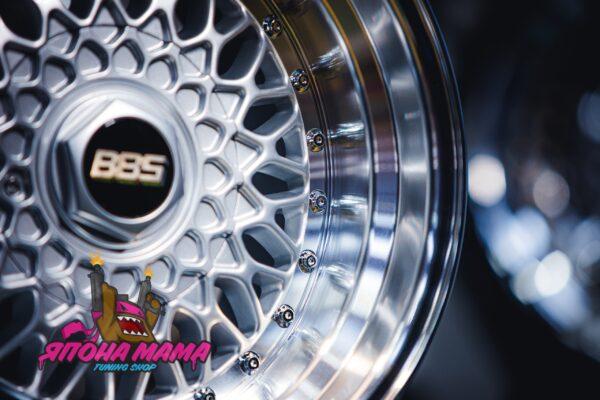 Комплект дисков BBS RS R15 9j ET9 4x100 / 114.3 (серебро)