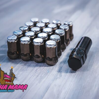 Спортивные стальные колесные гайки Project MU Super 7 lock (серебристые)