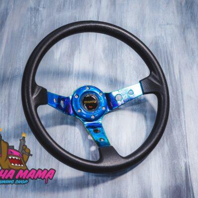 Спортивный руль MOMO PVC материал (Neo Chrome)