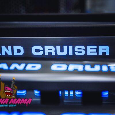 Toyota Land Cruiser 200 2008 - 2020 LED накладки на пороги внутренние (черные)