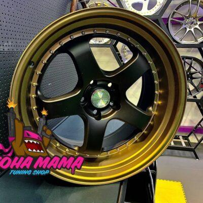 Комплект дисков WORK Meister S1 R18 10.5j ET22 5x114.3 (черные с бронзовой полкой)